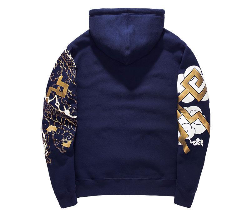 Blizzard Overwatch Hanzo Hoodie Blue Zip Cosplay Sweatshirt Cool