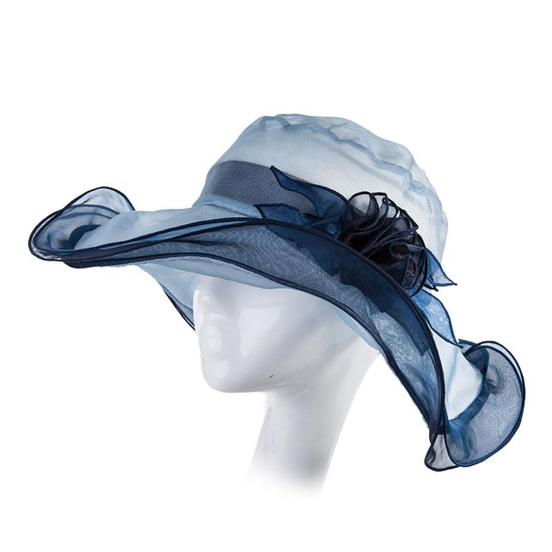 Summer Mulberry Silk Elegance Anti-UV hatut naaras taitettava aurinko hattu  matka lippikset hyvät kukat ... 4c4b1b1ec3