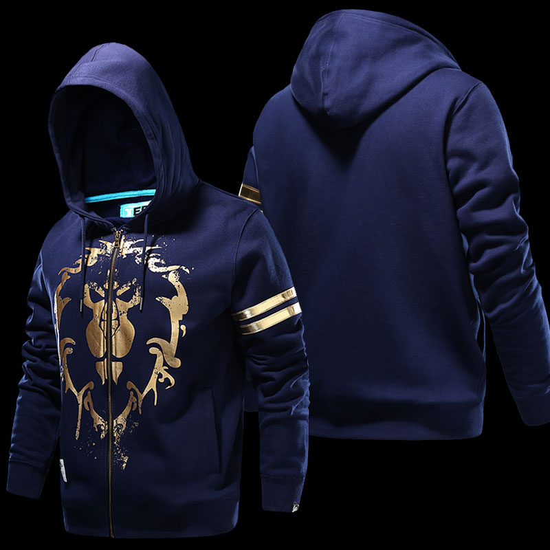 Quality WOW Alliace Logo Hoodie World of Warcraft Gold Lion