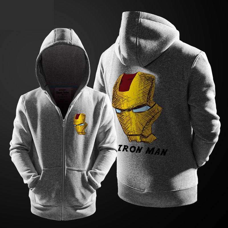Superhero Iron Man Hoodies Coat Kids Zipper Sweatshirt Boy/'s Hooded Jacket Gifts