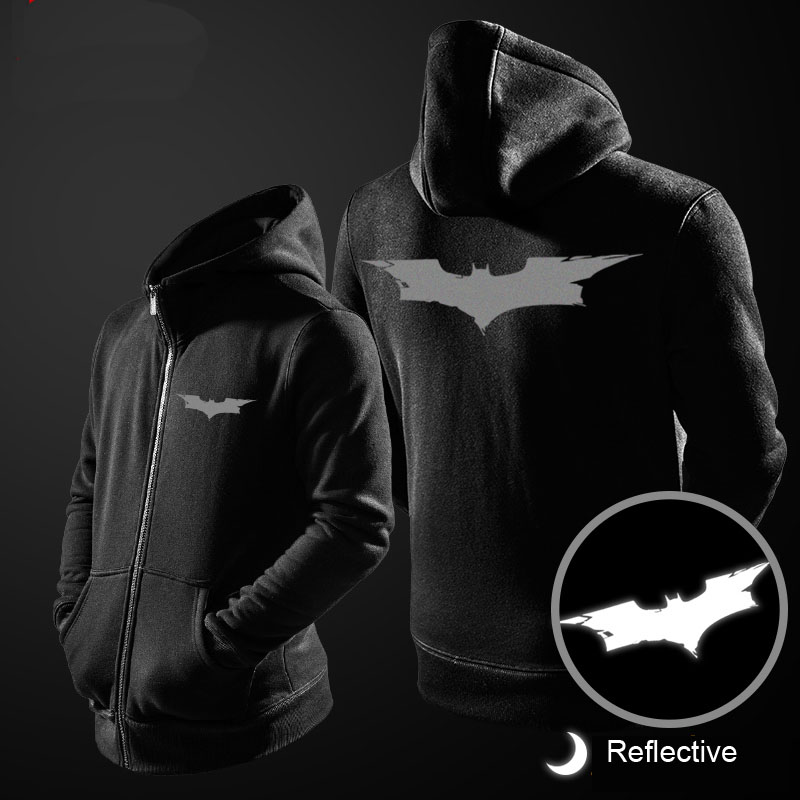 Superhrdina reflexní Batman Hoody pro muže černá mikina  315cbd20fec