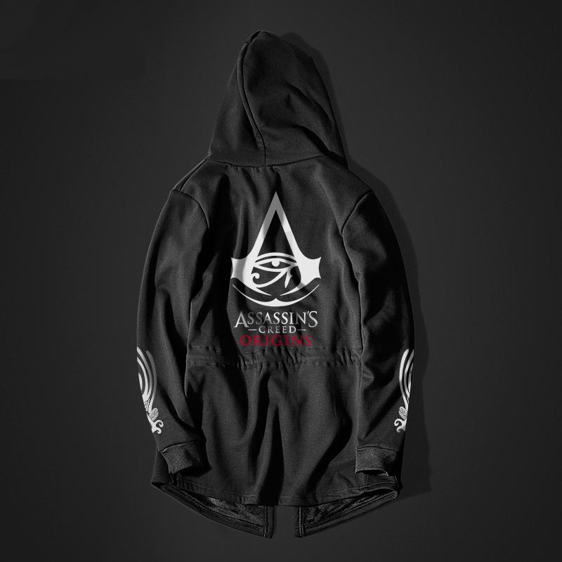 Assassin'S Creed Origins Long Cosplay Sweater Black Hoodie For Men