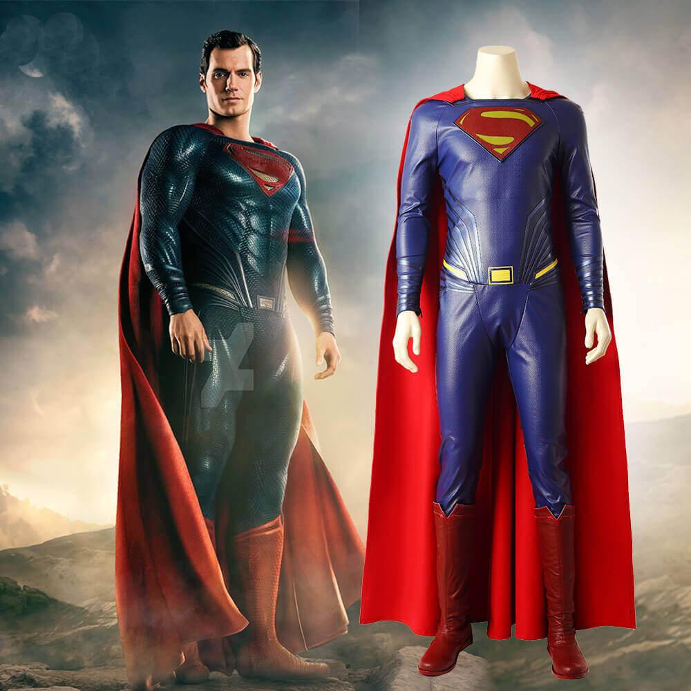 Justice League Superman Cosplay Costume Superhero Halloween Cosplay
