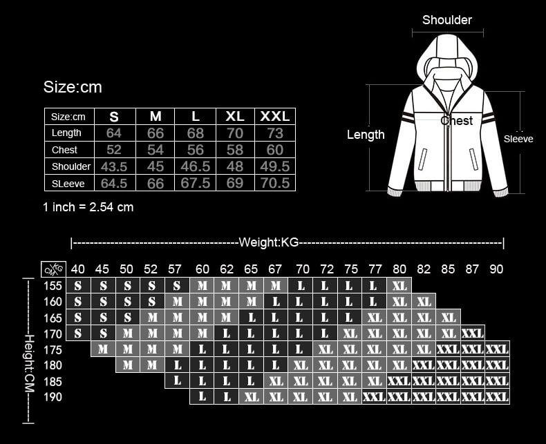 Game Themed Sweatshirts Mens Zipper Winter Hoodie Fleece Black Plus Size XXXL Youth