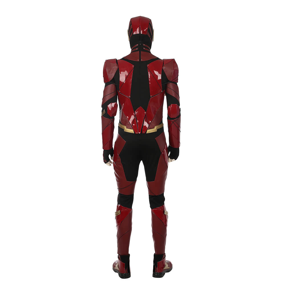 Justice League The Flash Cosplay Costume Red Patent Leather Flash Jumpsuit