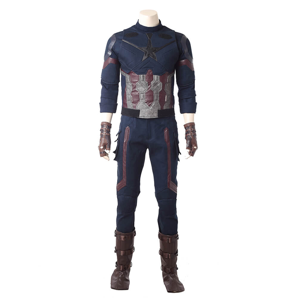 Captain America Cosplay Costume Movie Avengers Infinity War Cloth
