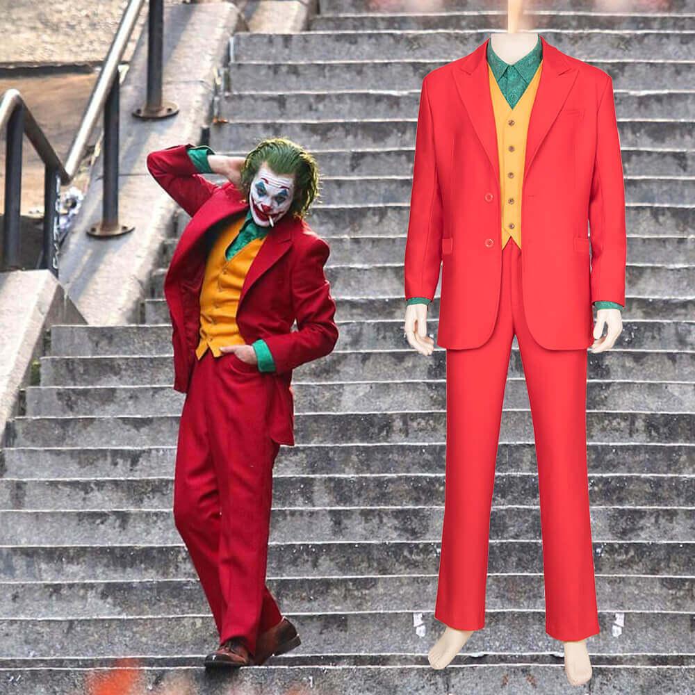 Batman Joker cosplay Costumes Red Man Coat