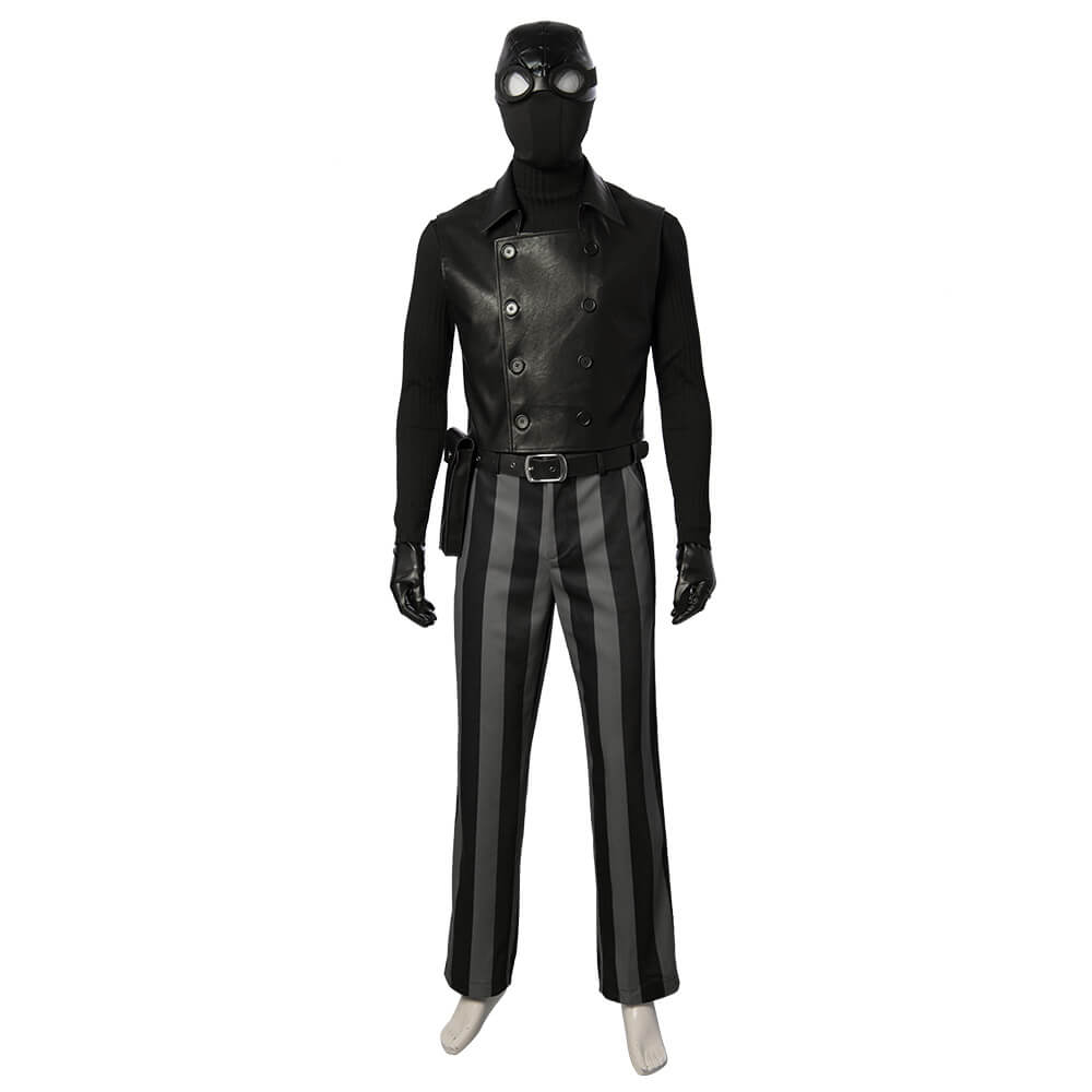 Spider-Man Noir Cosplay Costume Into the Spider-Verse Cosplay