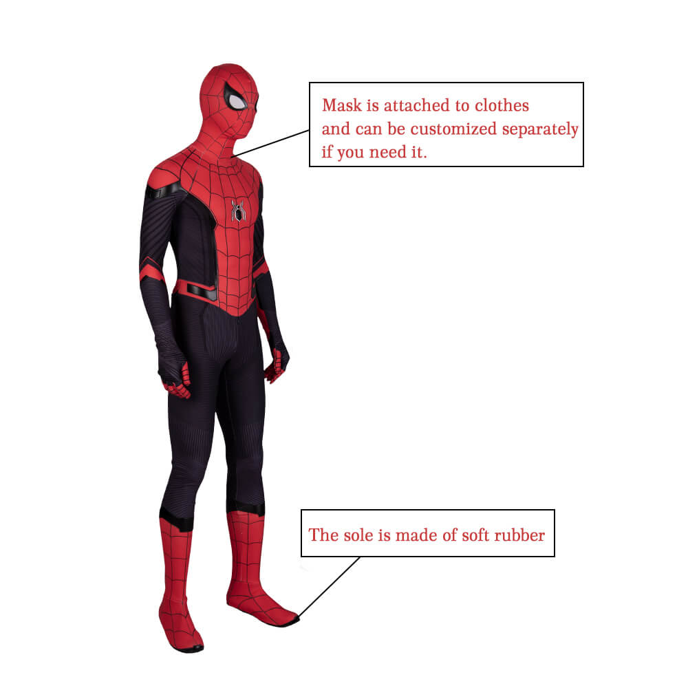 Spider Man Far From Home Jumpsuit  Spiderman Halloween Cosplay Costumes