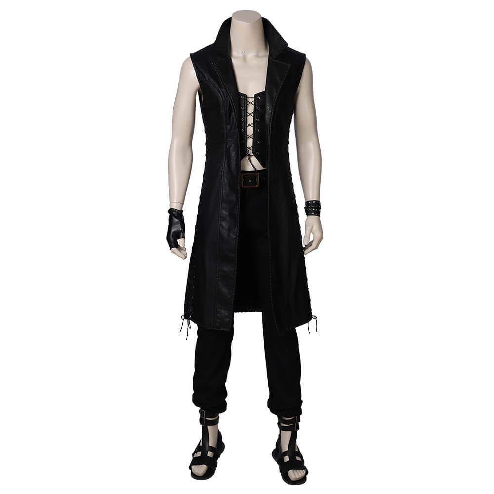 Game DMC 5 Cosplay Costume Men Vitale PU Leather Top