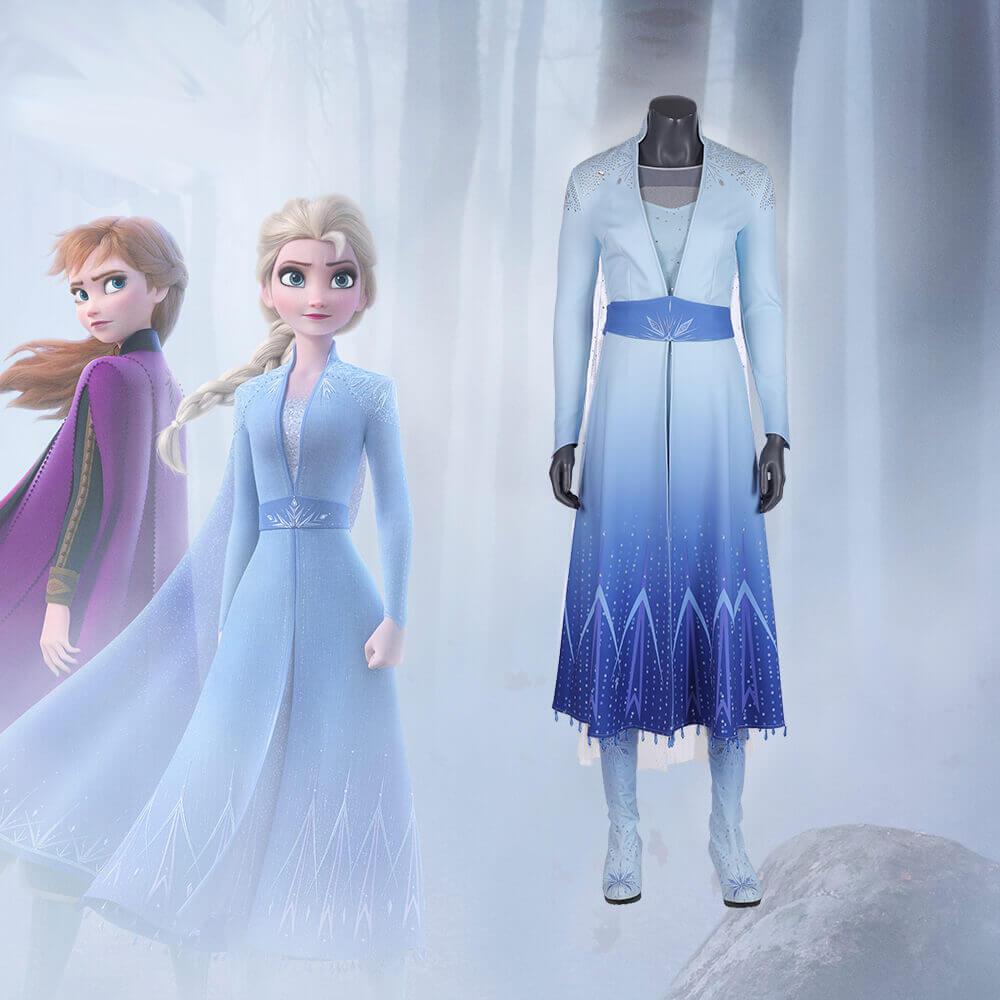 615db43a0b5 Frozen 2 Elsa Dress Costume Princess Anna Cosplay Costume | Wishiny