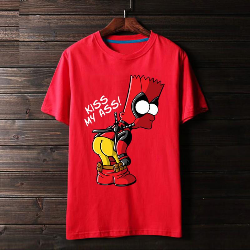 <p>Deadpool Tee Marvel Cotton T-Shirts</p>