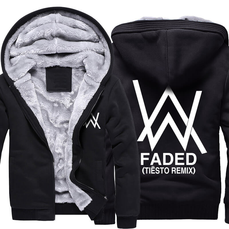 Winter Thick Hoodies Alan Walker Faded Winter Coat