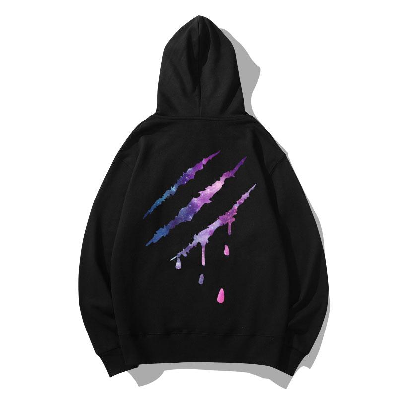 Starry sky scratch Sweatshirts Coat