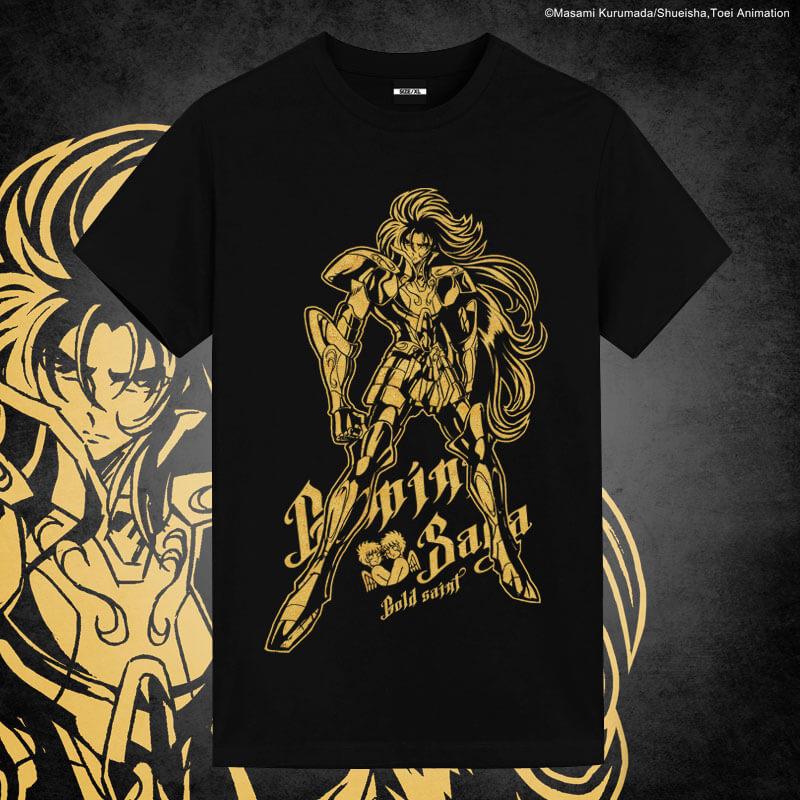 Saint Seiya Brozing Gemini Saga Tshirts Anime Couple Shirts