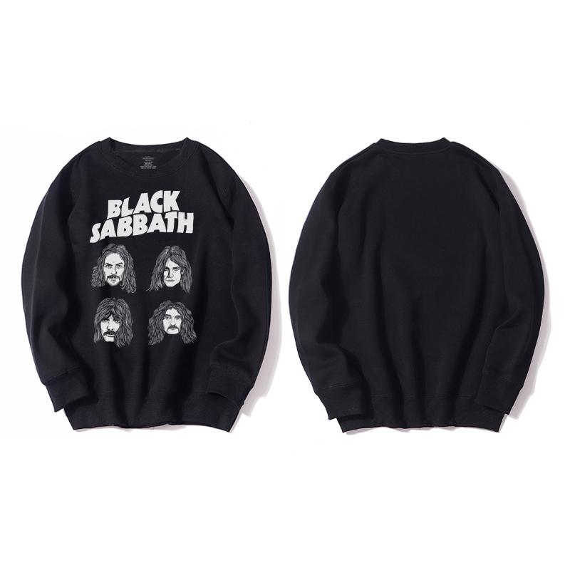 <p>Rock N Roll Black Sabbath Hoodie Cotton Jacket</p>