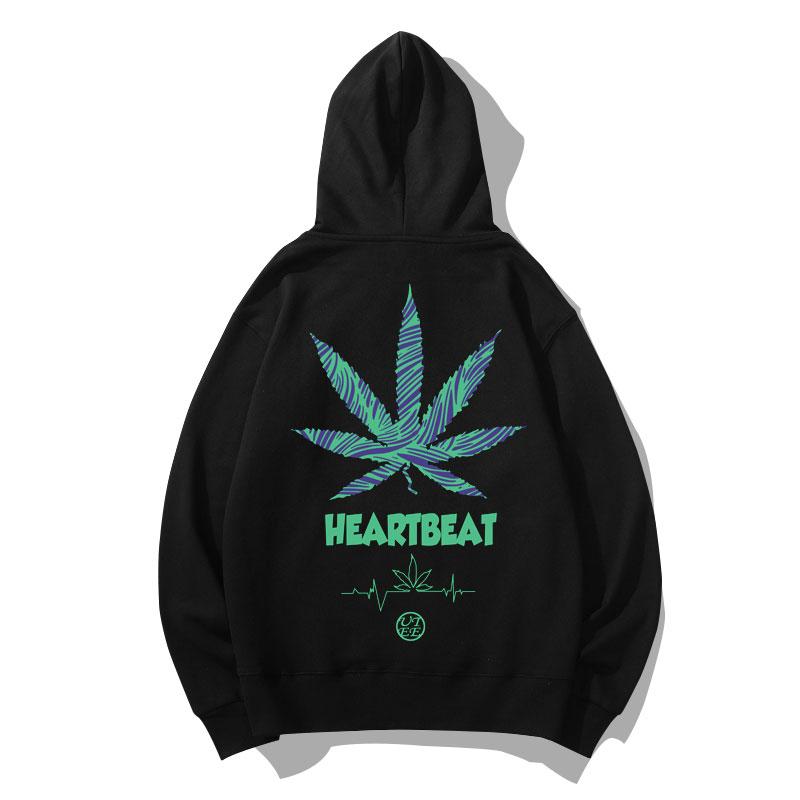 Quality Leaf Sweatshirt Coat