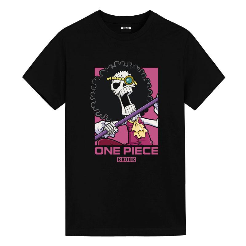 One Piece Brook Tshirts Vintage Anime T Shirts