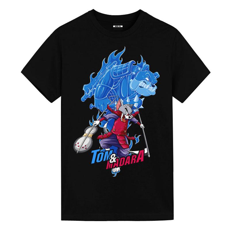 Tom and Jerry Madara Uchiha Tom Shirt Cute Anime Shirts