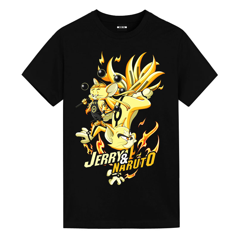 Tom and Jerry Jerry Nine Tails Tshirts Best Anime Shirts