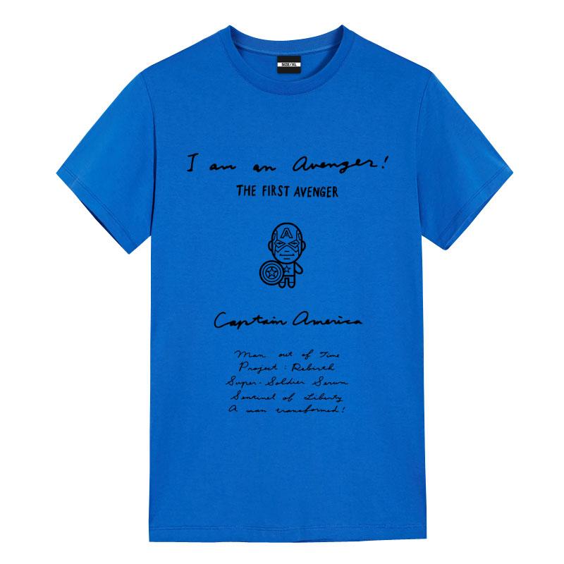 Captain America Manuscript Design T-Shirts Womens Captain Marvel Shirt