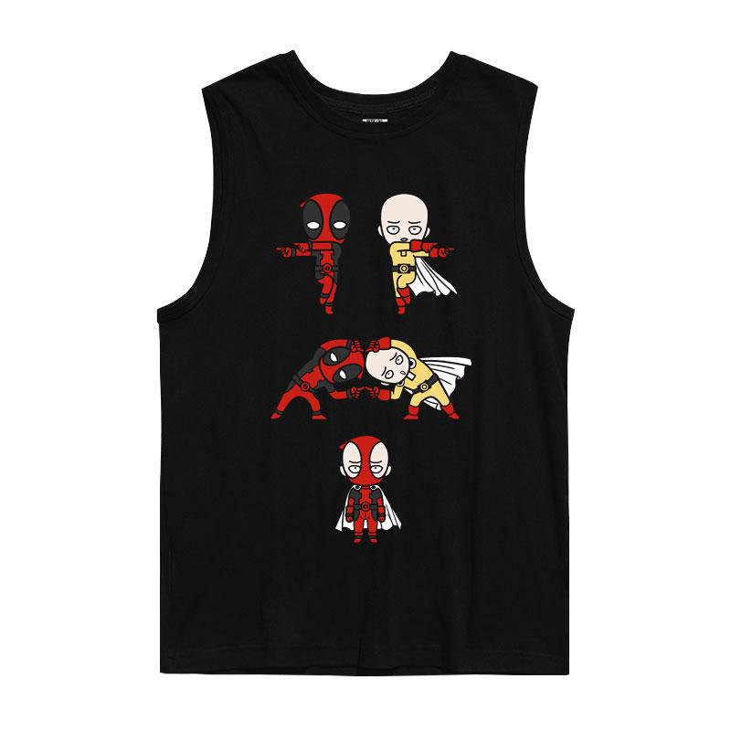 Deadpool Tank Tops T-Shirts Mens Marvel Shirts