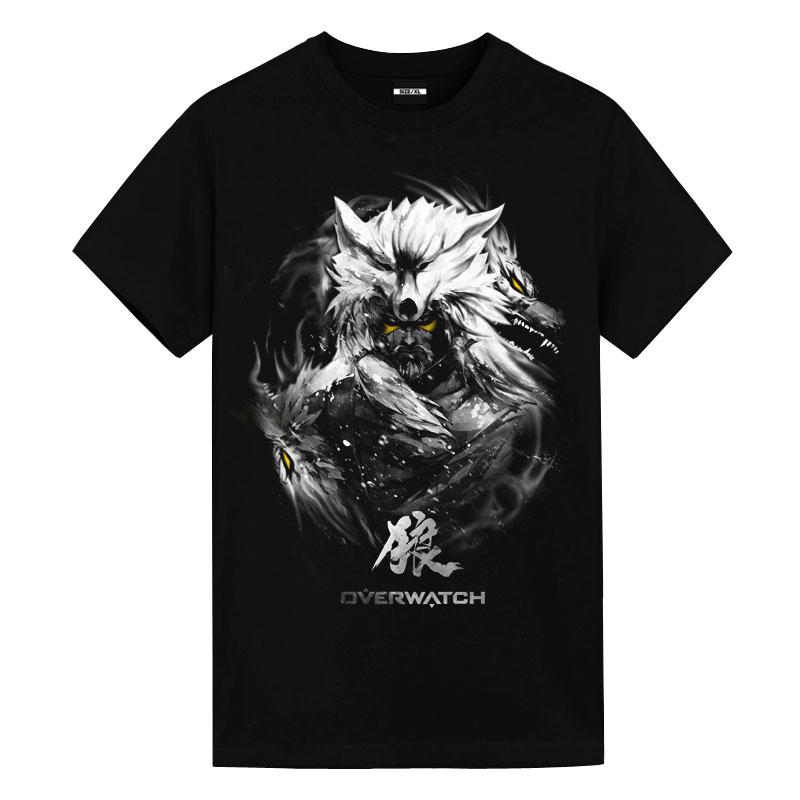 Dark Overwatch Hanzo Wolf Tees