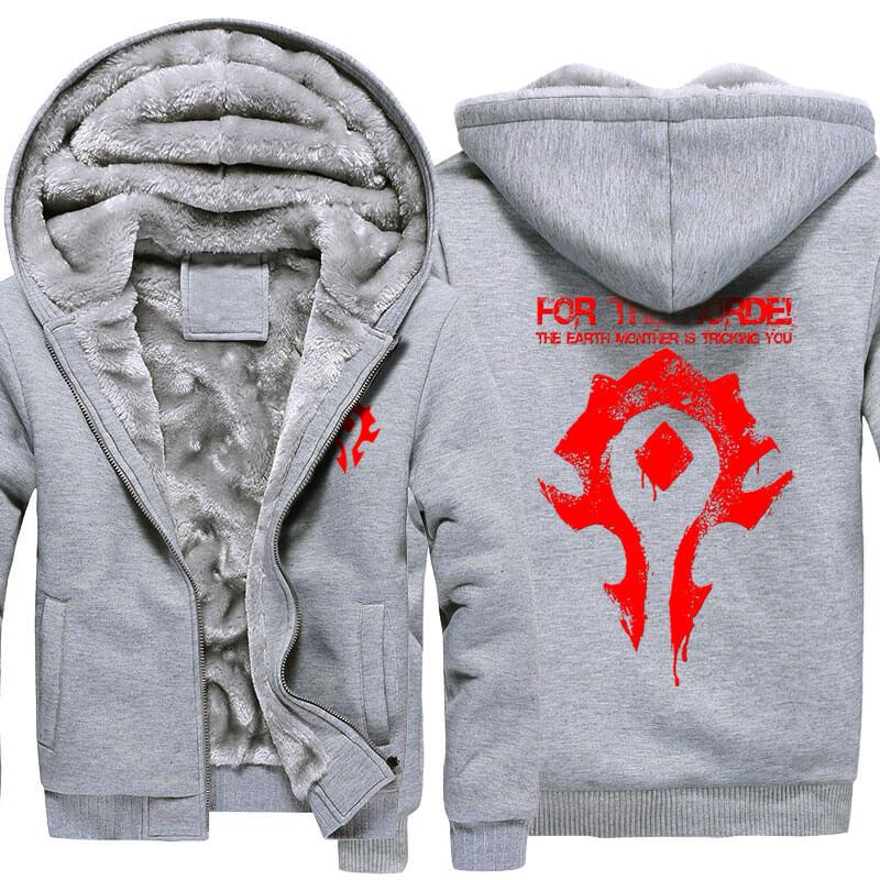 <p>Winter World of Warcraft Horde Logo Hoodie</p>