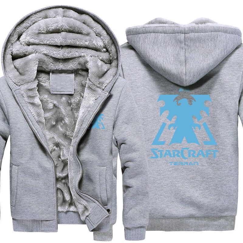Starcraft 2 Logo Winter Warm Hoodies