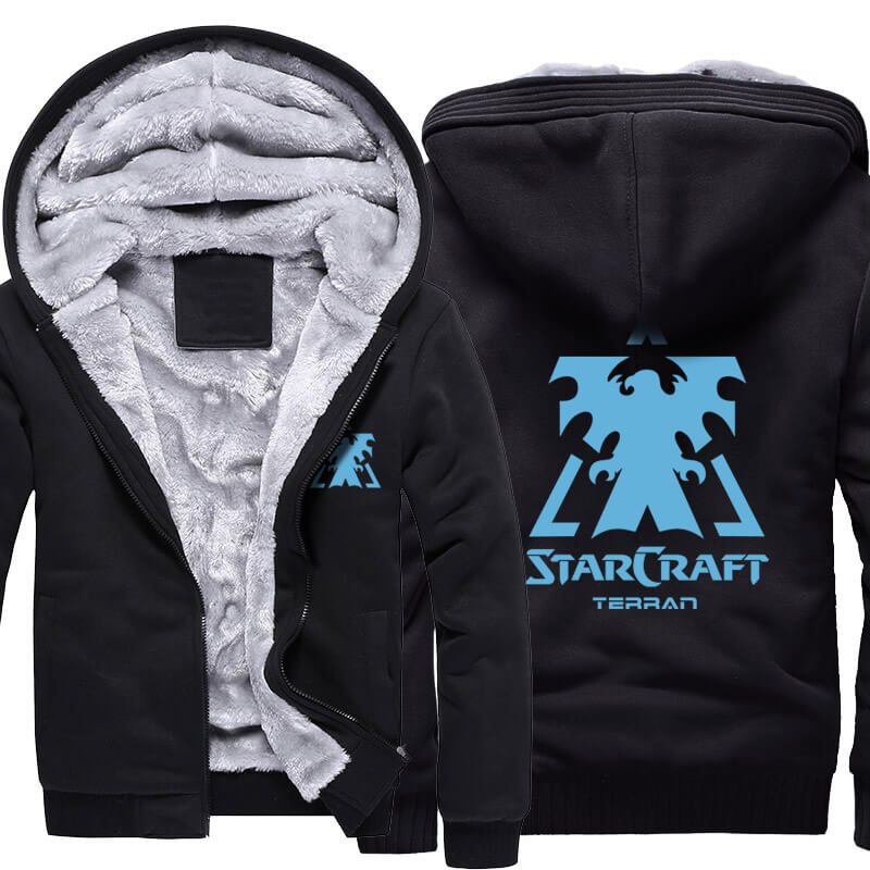 Starcraft 2 Logo Winter Warm Hoodies