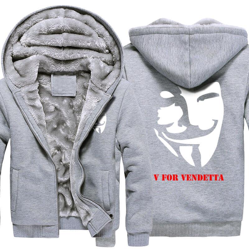 V for Vendetta Hoodie V Monster Mask Winter Coats