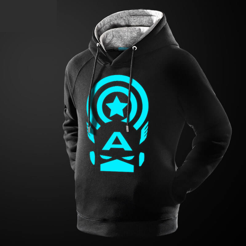 Luminous Marvel Captain American Hoodie