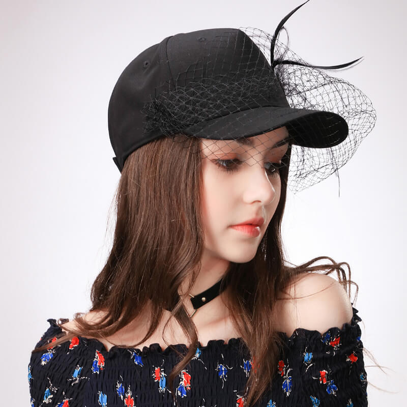 Spring Baseball Hat Black Summer Leisure Travel Sun Hats Female Cotton  Adjustable Ladies c3591dcfb16c