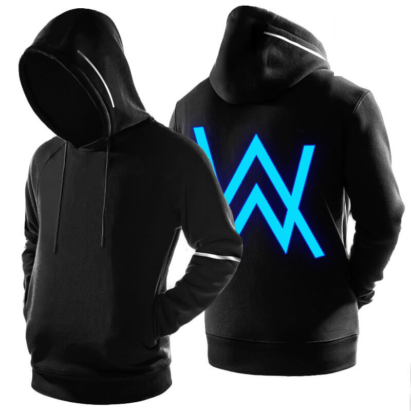 Alan Walker Hoodie Black Luminous Faded Sweatshirt Cool