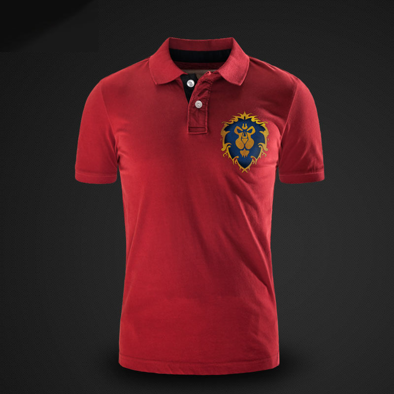 Alliance Lion Logo Polo Shirt World Of Warcraft Game Polo T Shirt
