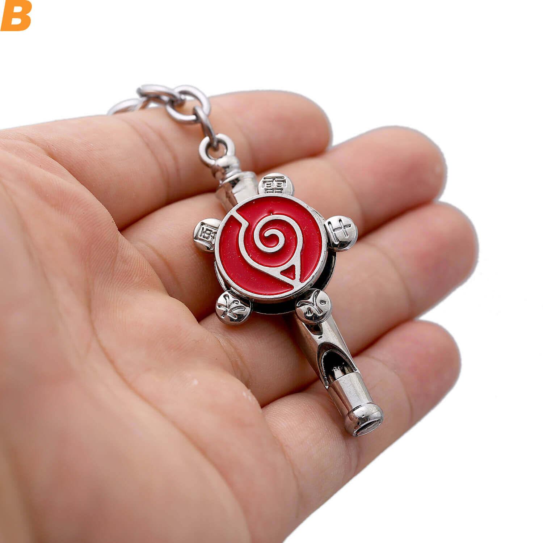 Anime Naruto Rotating Akatsuki Uzumaki Whistle Keychain Jewelry