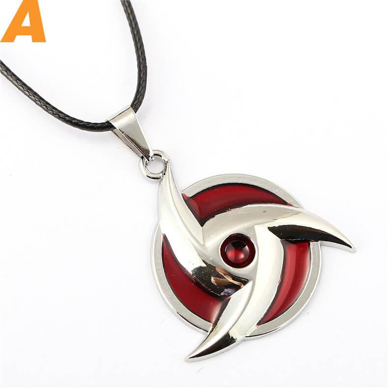 Anime Naruto Uchiha Itachi Kaleidoscope Sharingan Necklace