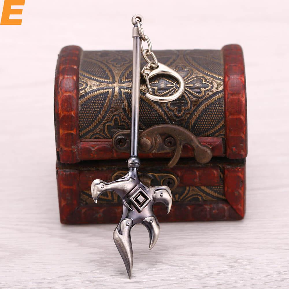 Anime Naruto Weapons Model Keychain Jewelry