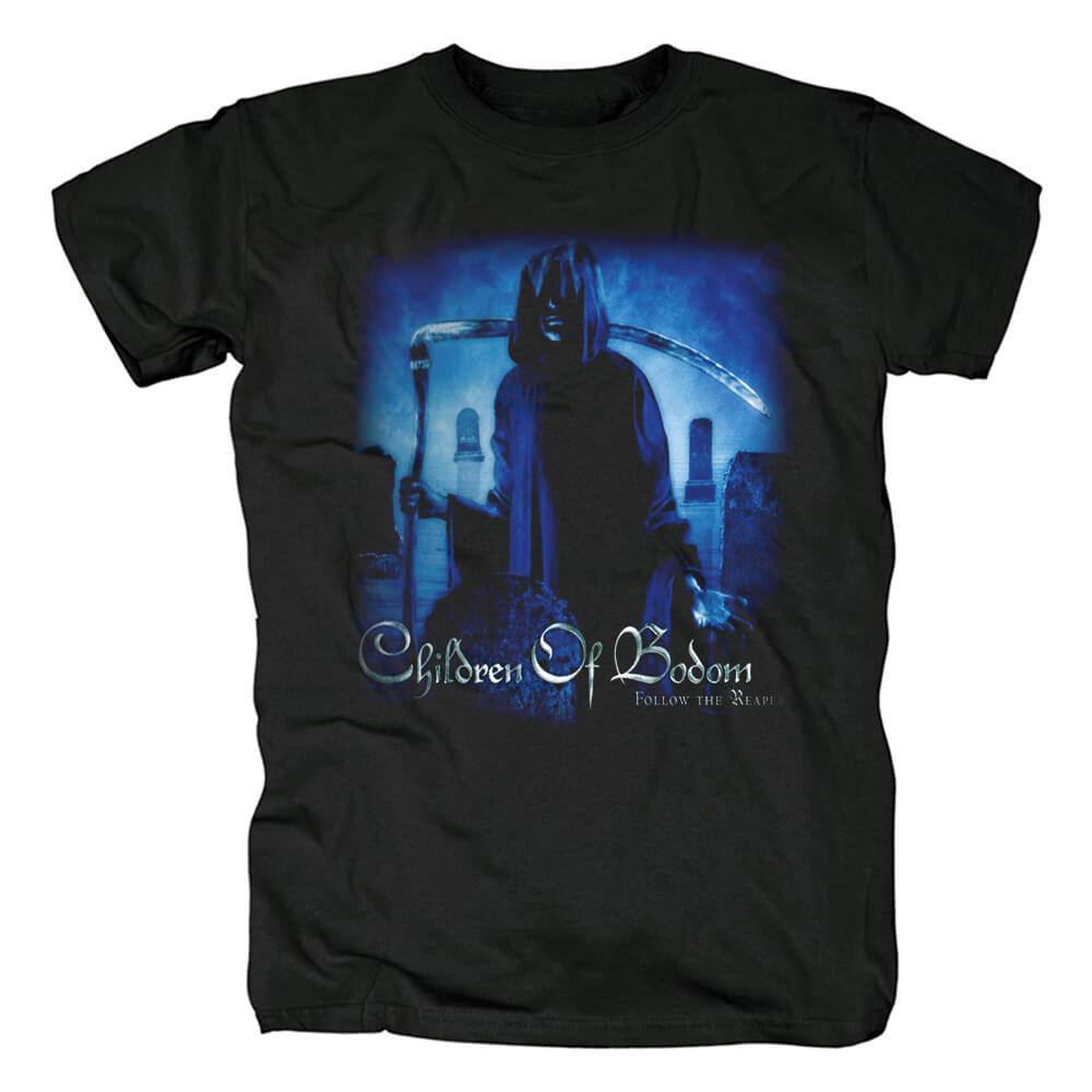 Awesome Children Of Bodom Band Tee Shirts Finland Black Metal Punk Rock T-Shirt
