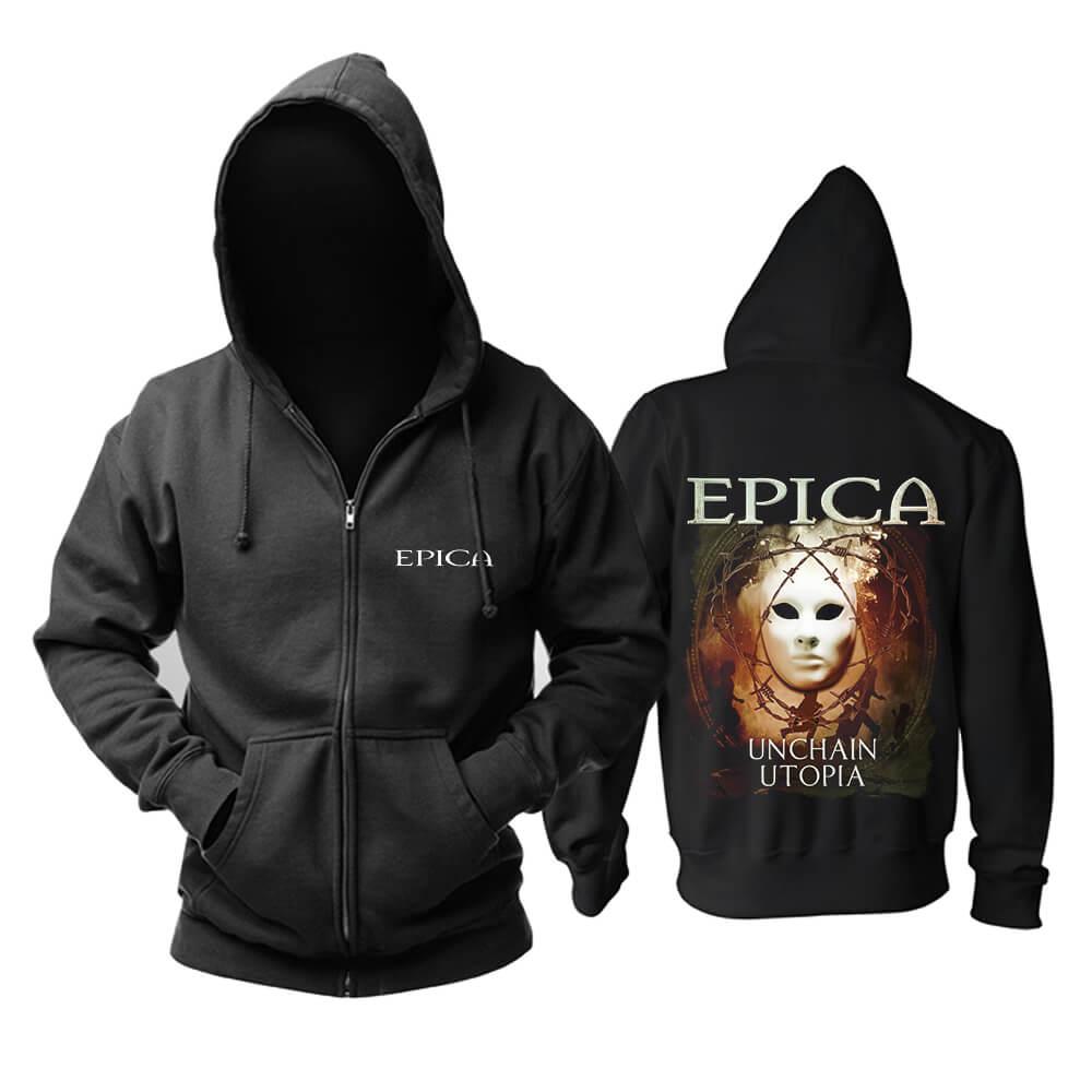 Awesome Epica Unchain Utopia Hooded Sweatshirts Netherlands Metal Music Hoodie