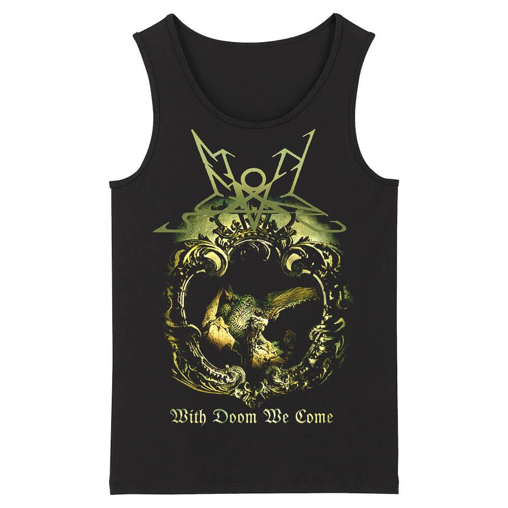 Band Summoning Sleeveless Tee Shirts Black Metal Tank Tops