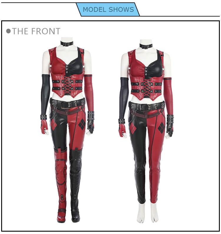 Batman Arkham Knight Costume Harley Quinn Halloween Cosplay Costume