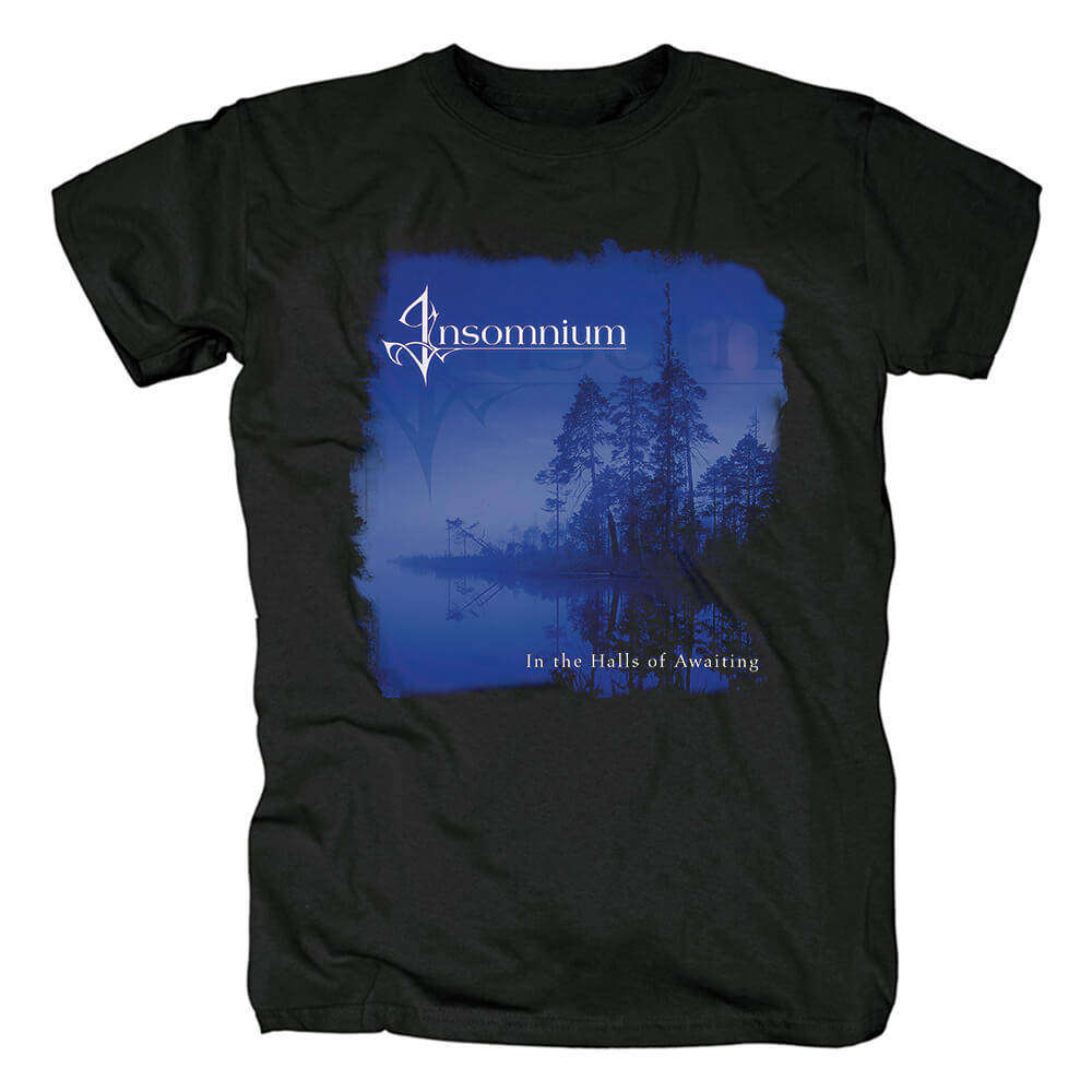Best Insomnium In The Halls Of Awaiting Tees Finland Metal T-Shirt