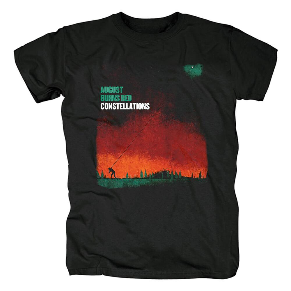 Best Ugust Burns Red T-Shirt Hard Rock Metal Band Graphic Tees