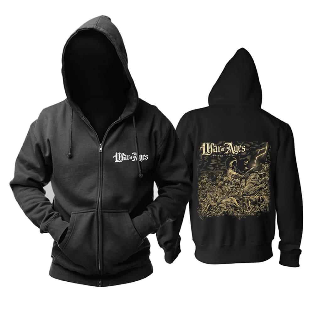 Best War Of Ages Hooded Sweatshirts Us Metal Punk Rock Band Hoodie