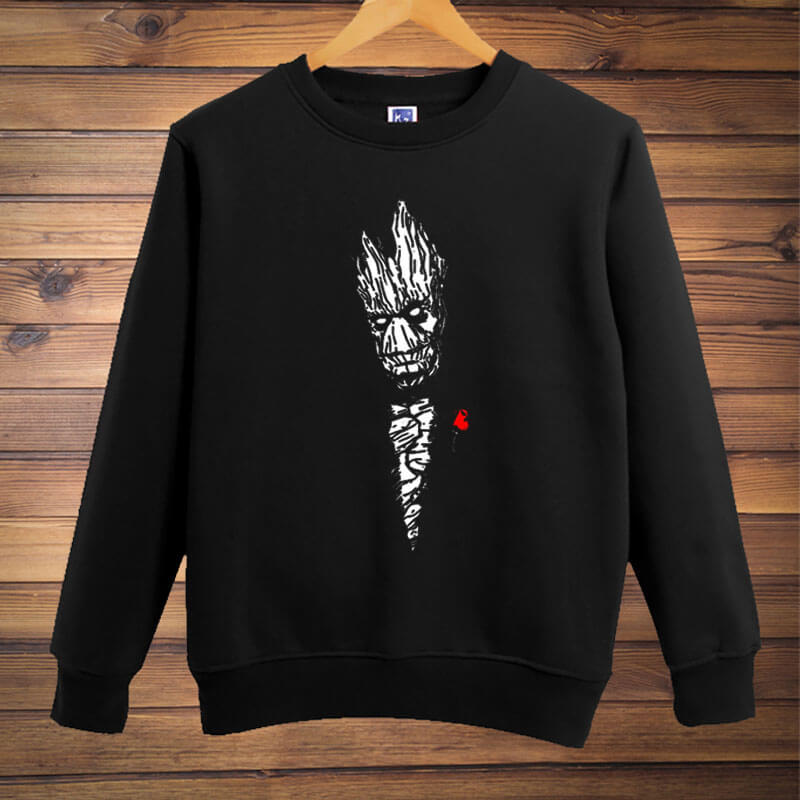Black Groot Sweater Guardians Of The Galaxy 2 Gifts for Mens