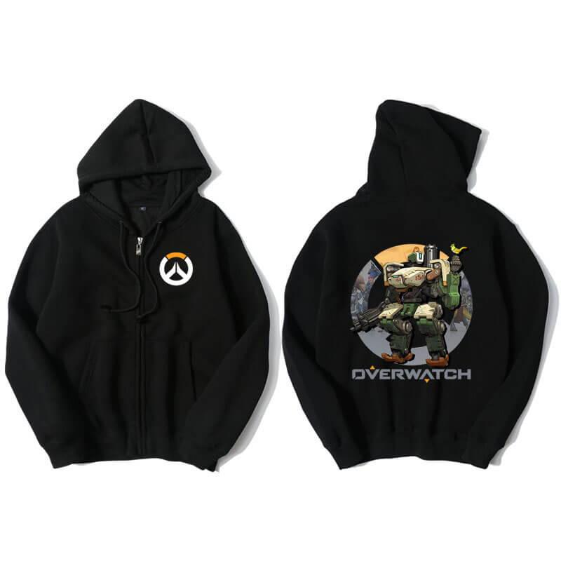 Blizzard Overwatch Bastion Sweatshirt Mens Black Hoody