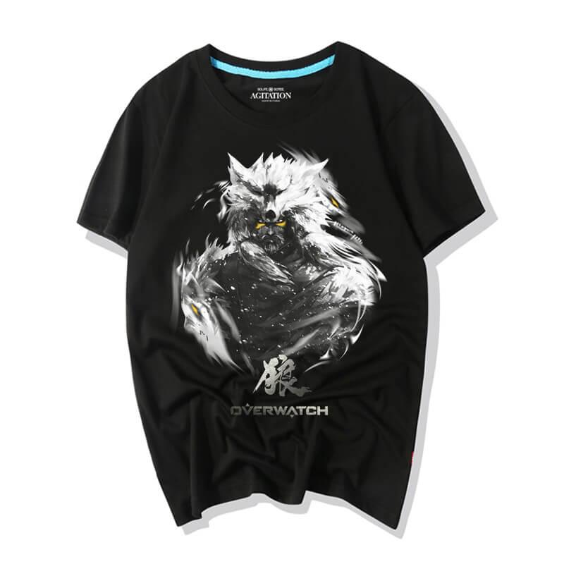 Blizzard Overwatch Hanzo Wolf Tee Shirts