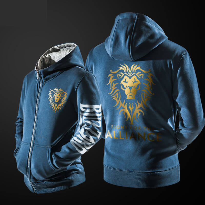 Blizzard World of Warcraft Sweatshirt WOW Alliance Golden Lion Clothing