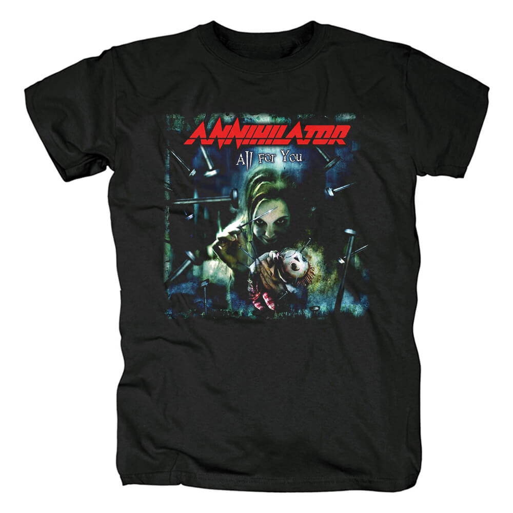 Canada Metal Rock Graphic Tees Annihilator Band T-Shirt